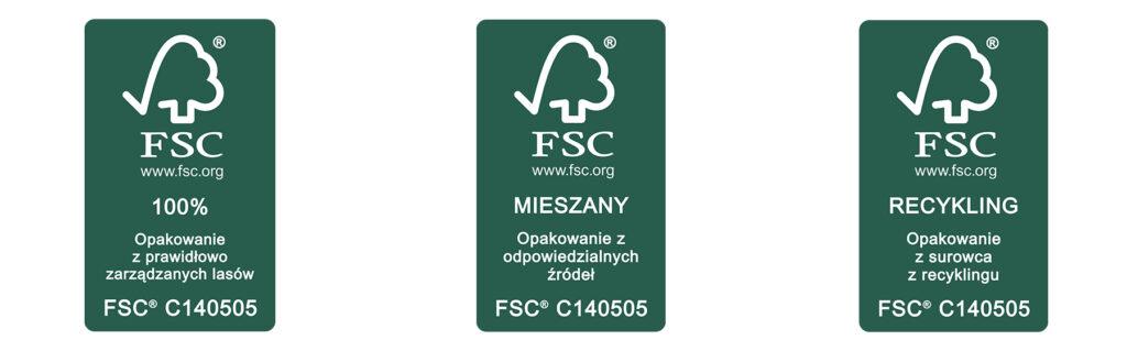 etykiety fsc, certyfikat fsc, opakowania z fsc